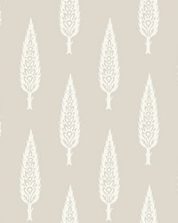 Juniper Tree Wallpaper Taupe by
