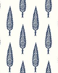 Juniper Tree Wallpaper Navy by