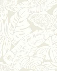 Valdivian Wallpaper  White Off Whites by
