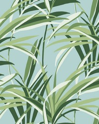 Tropical Paradise Wallpaper Green Light Blue by