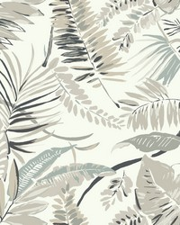 Tropical Toss Wallpaper White by