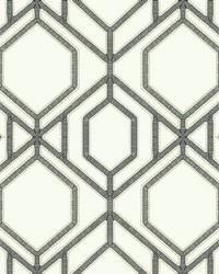Sawgrass Trellis Wallpaper White Gray by