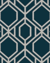 Sawgrass Trellis Wallpaper Navy by