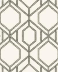 Sawgrass Trellis Wallpaper White Taupe by