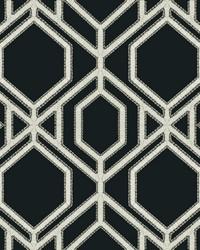 Sawgrass Trellis Wallpaper Black White by