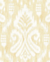 Hawthorne Ikat Wallpaper Yellow by
