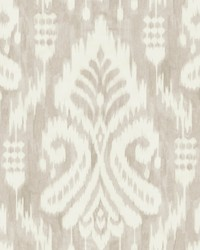 Hawthorne Ikat Wallpaper Taupe by