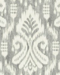 Hawthorne Ikat Wallpaper Gray by