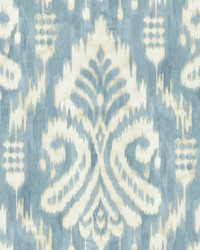 Hawthorne Ikat Wallpaper Blue by