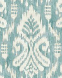 Hawthorne Ikat Wallpaper Aqua by