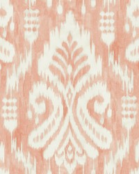 Hawthorne Ikat Wallpaper Coral by