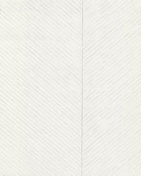 Palm Chevron Wallpaper White Silver by