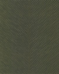 Palm Chevron Wallpaper Green Gold by