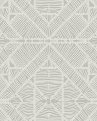 Diamond Macrame Wallpaper Gray by