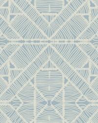 Diamond Macrame Wallpaper Blue by