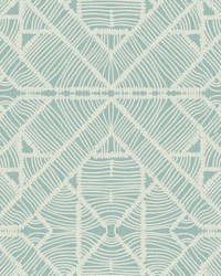 Diamond Macrame Wallpaper Aqua by