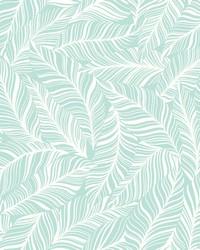 Rainforest Canopy Wallpaper Aqua by