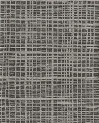 Washy Plaid Wallpaper Blacks by