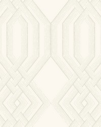 Ettched Lattice Wallpaper Taupe by