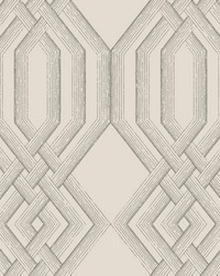 Ettched Lattice Wallpaper Gray by
