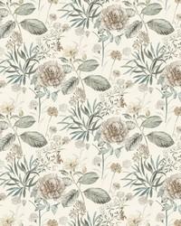 Midsummer Floral Wallpaper Beige Green by