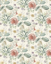 Midsummer Floral Wallpaper Coral by