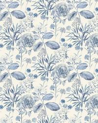 Midsummer Floral Wallpaper Blue by