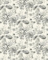 Midsummer Floral Wallpaper Gray by