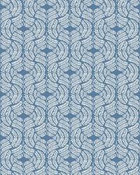 Fern Tile Wallpaper Blue by