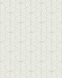 Fern Tile Wallpaper Light Gray by