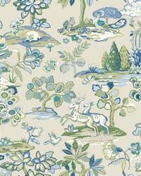 Kingswood Wallpaper BluE Green by