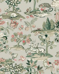 Kingswood Wallpaper Taupe Coral by