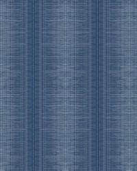 Silk Weave Stripe Wallpaper Navy by