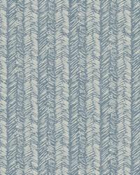 Fractured Herrigbone Wallpaper Blue by