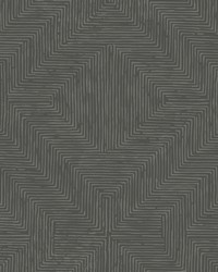 Diamond Channel Wallpaper Dark Gray by