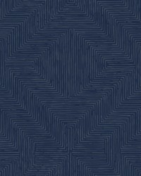 Diamond Channel Wallpaper Navy by