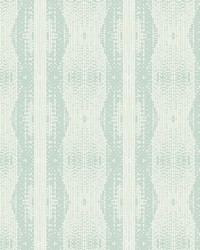 Navajo Stripe Wallpaper Blues by