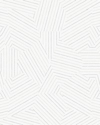 Stitched Prism Wallpaper White by