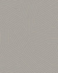 Stitched Prism Wallpaper Grey by