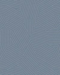 Stitched Prism Wallpaper Denim by