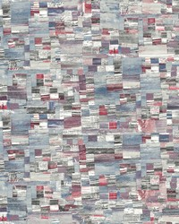 Mixed Media Wallpaper Red by
