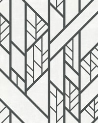 Industrial Grid Wallpaper Grey by