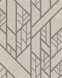Industrial Grid Wallpaper Taupe by
