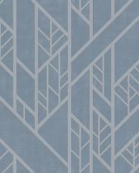 Industrial Grid Wallpaper Blue by
