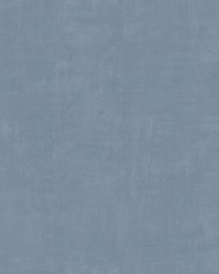 Combed Plaid Stripe Wallpaper Blue by