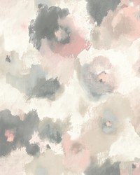 Impressionist Floral Wallpaper Pink by