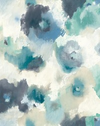 Impressionist Floral Wallpaper Blue by