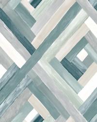 Wynwood Geometric Wallpaper Aqua by