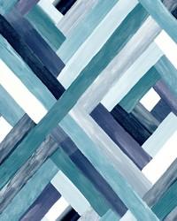 Wynwood Geometric Wallpaper Blue by