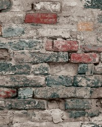 Brick Alley Wallpaper Blue by